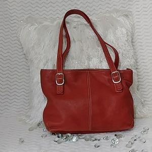 EUC Tignanello Red Leather Tote Bag